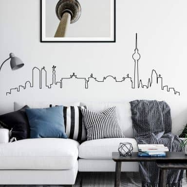 Wandtattoo Berlin Skyline Outline