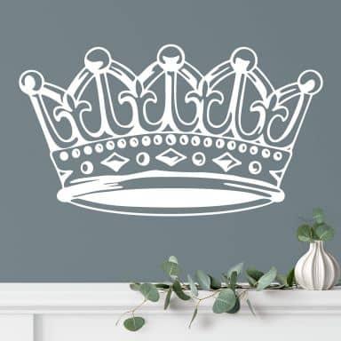 Wandtattoo Perlenbesetzte Krone