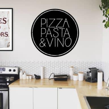 Adesivo murale - Pizza Pasta Vino