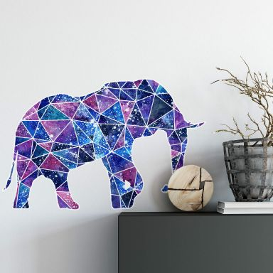 Wall sticker Polygon Galaxy Elephant