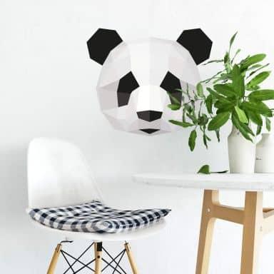 Wandtattoo Polygon - Pandakopf