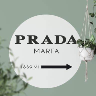 Wandtattoo Prada Marfa - Rund