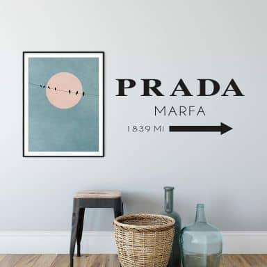 Wall sticker Prada Marfa
