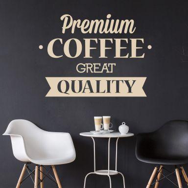 Wandtattoo Premium Coffee