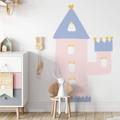 Wandtattoo Prinzessinnen-Schlossturm