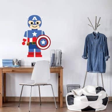 Wandtattoo Gomes - Captain America Spielzeug