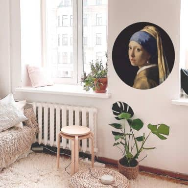 Wall sticker Vermeer - The girl with the pearl ear ring