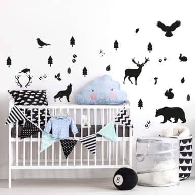 Wall sticker set Forest Animals
