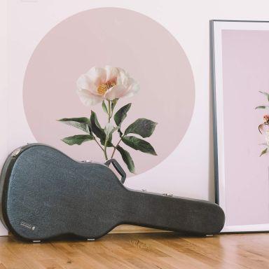 Zelfklevende Muurcirkel Sisi & Seb - Delicate Flower
