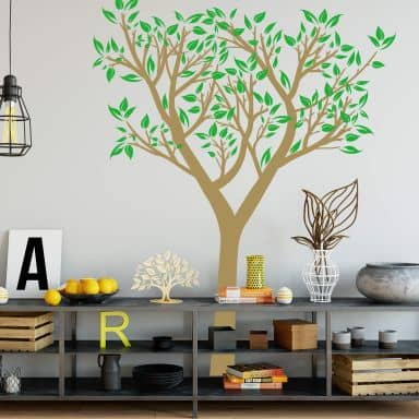 Wall sticker Burgeoning Tree 2-colours