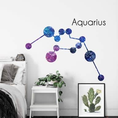 Wandtattoo Sternbild Aquarius Wassermann