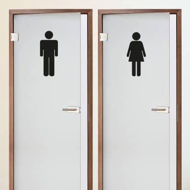 Restroom Couple 3 Wall sticker