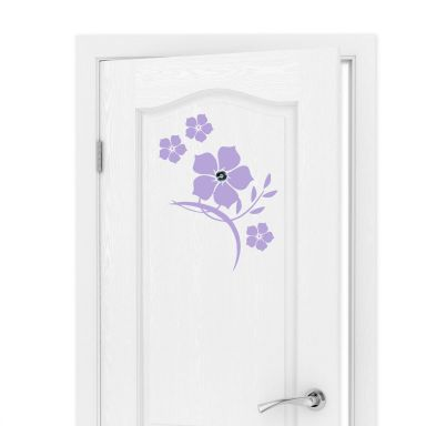 Wandtattoo Türspion Jadeblumen