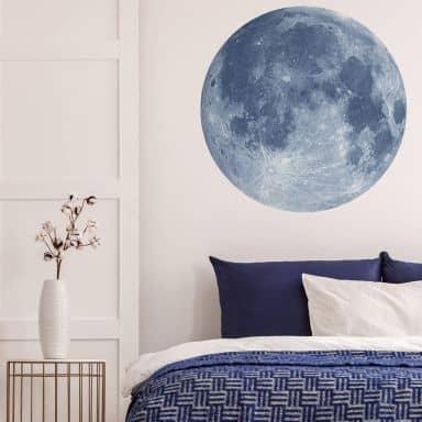 Muursticker Volle Maan - rond