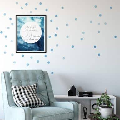 Muursticker set stippen - Lichtblauw (50 stickers)