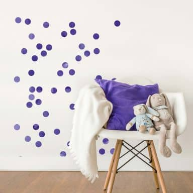 Wall sticker set Dots - Lilac (50 stickers)