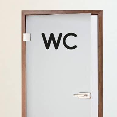 Muursticker WC 2