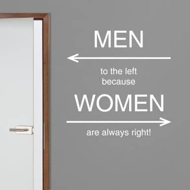 Wall sticker - Women are always right!