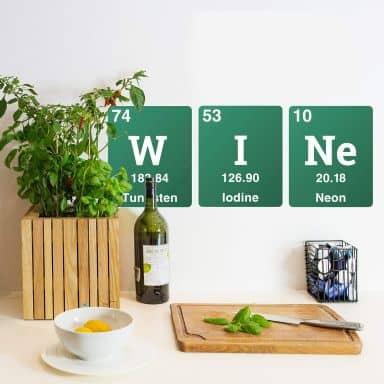 Wandtattoo Wine - Elemente des Periodensystems