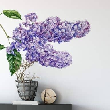 Wall sticker - Lilac branch vintage XXL