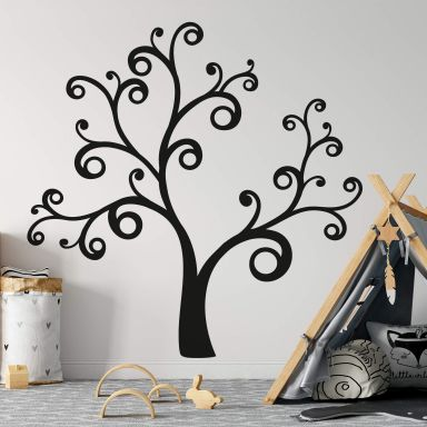 Muursticker Swirly Tree