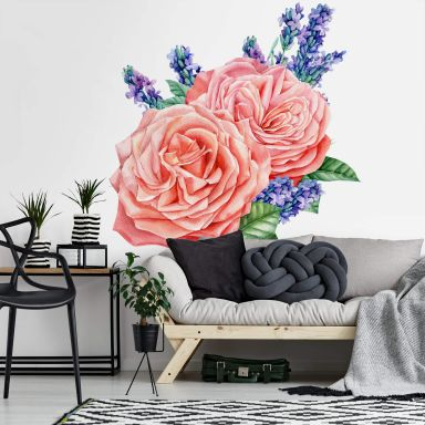 Wall Sticker Rose Harmony XXL
