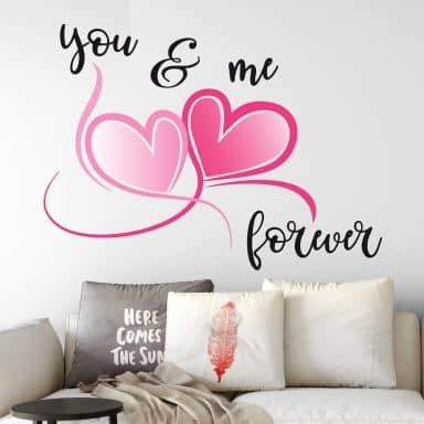 Wall sticker You and Me Forever