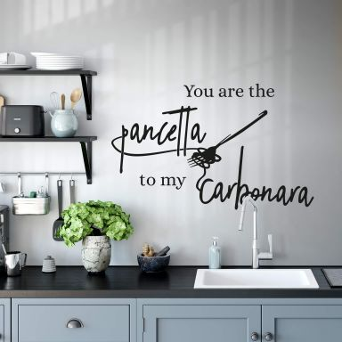 Wallsticker -  You are the pancetta to my carbonara