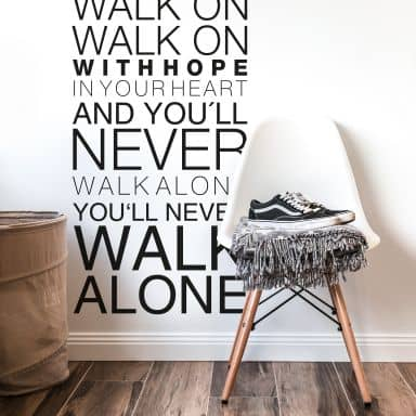 Wall sticker – You will never walk alone