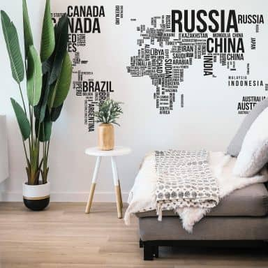 Sticker mural - Mappemonde : pays