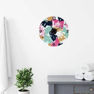 Adesivo murale + Orologio creativo