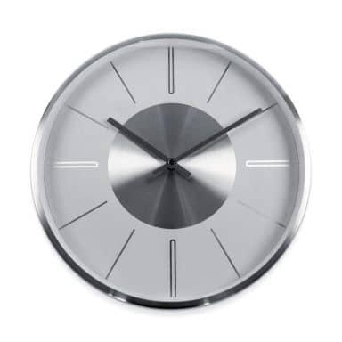 Moderne Wanduhr Aluminium Silber - Rund Ø32 cm