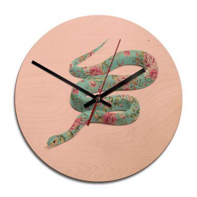 Holz-Wanduhr Fuentes - Floral Snake