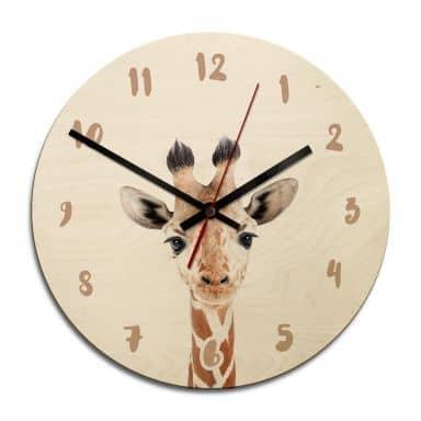 Houten Klok Sisi & Seb - Baby Giraffe