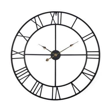 Orologio in metallo XXL con numeri romani Ø80 cm