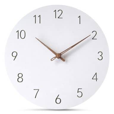 MDF Clock White Ø 29 cm