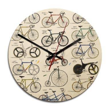 Holz-Wanduhr Sparshott - Fahrräder