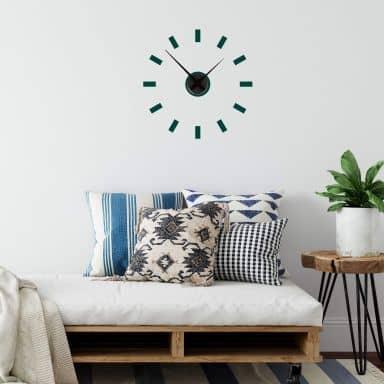 Adesivo murale Linee + Orologio