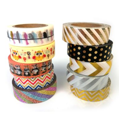 "Bandes Adhésives ""Washi Tapes"" - 10 styles différents"