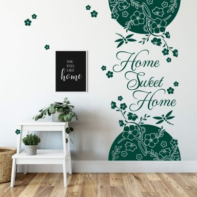 Sticker mural - Bordure Home Sweet Home