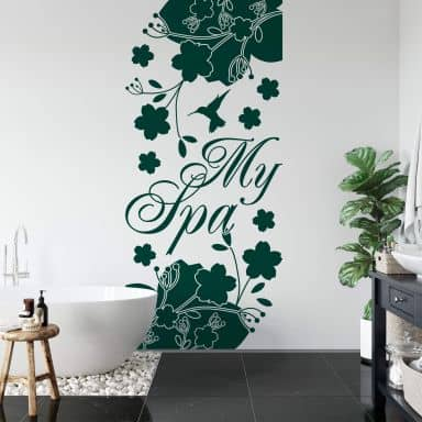 Banner My Spa Wall sticker