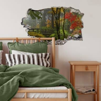 3D wall sticker Japanese Garden