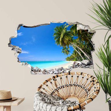 Sticker mural 3D Paradis