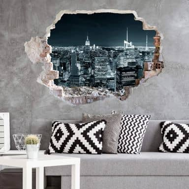 3D wall sticker New York at Night 2