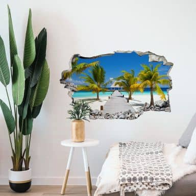 3D wall sticker paradise