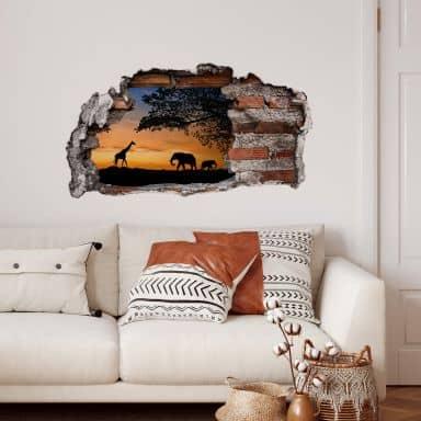 3D wall sticker African Sunset