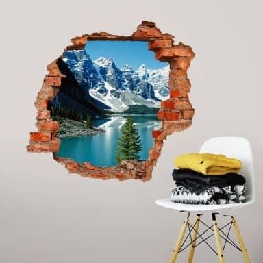 3D wall sticker Mountain Fairytale