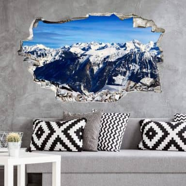 3D wall sticker The Alps
