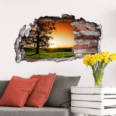 3D wall sticker Breathtaking Sunset