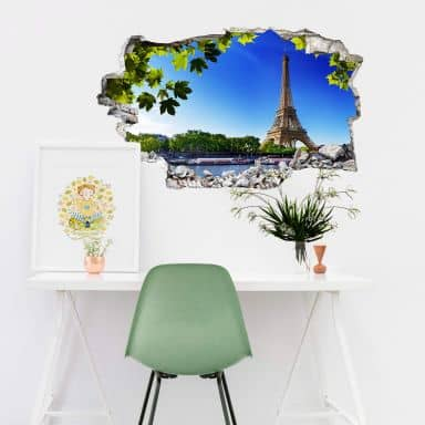 3D wall sticker Summer in Paris
